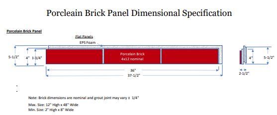 Brick Panels Dimensional Specifications JPEG